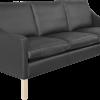 RM 45 sofa sort læder