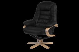 Vito læder stol sort