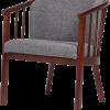 caddy stol i grå stof