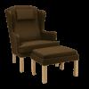 classic stol i stof med skammel