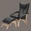 clio læder stol med skammel
