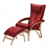 clio stol læder med skammel