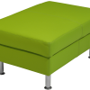 puff 90 grøn læder