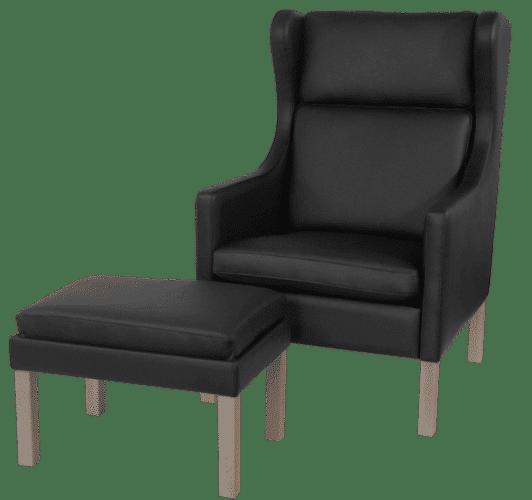 RM 45 stol høj med skammel